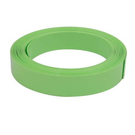 17 Mm Olive - Unique Bargains 17mm Flat Width 10M Long PVC Heat Shrinkable Tube Olive Green for AAA Battery