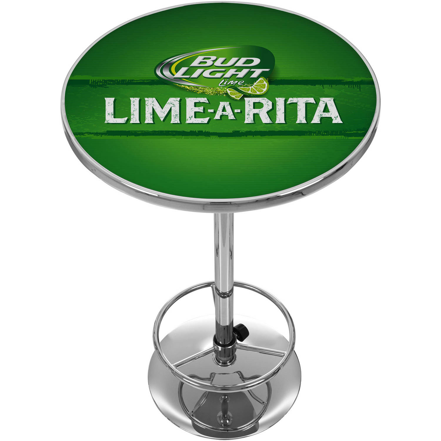 Bud Light Lime-A-Rita Chrome Pub Table
