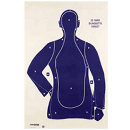 Champion Traps and Targets Police Silhouette Target B21E, 100-Pack by Champion Traps and Targets
