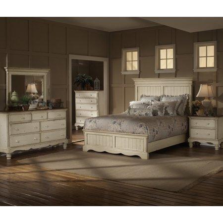 Hillsdale Panel Bedroom Antique White King