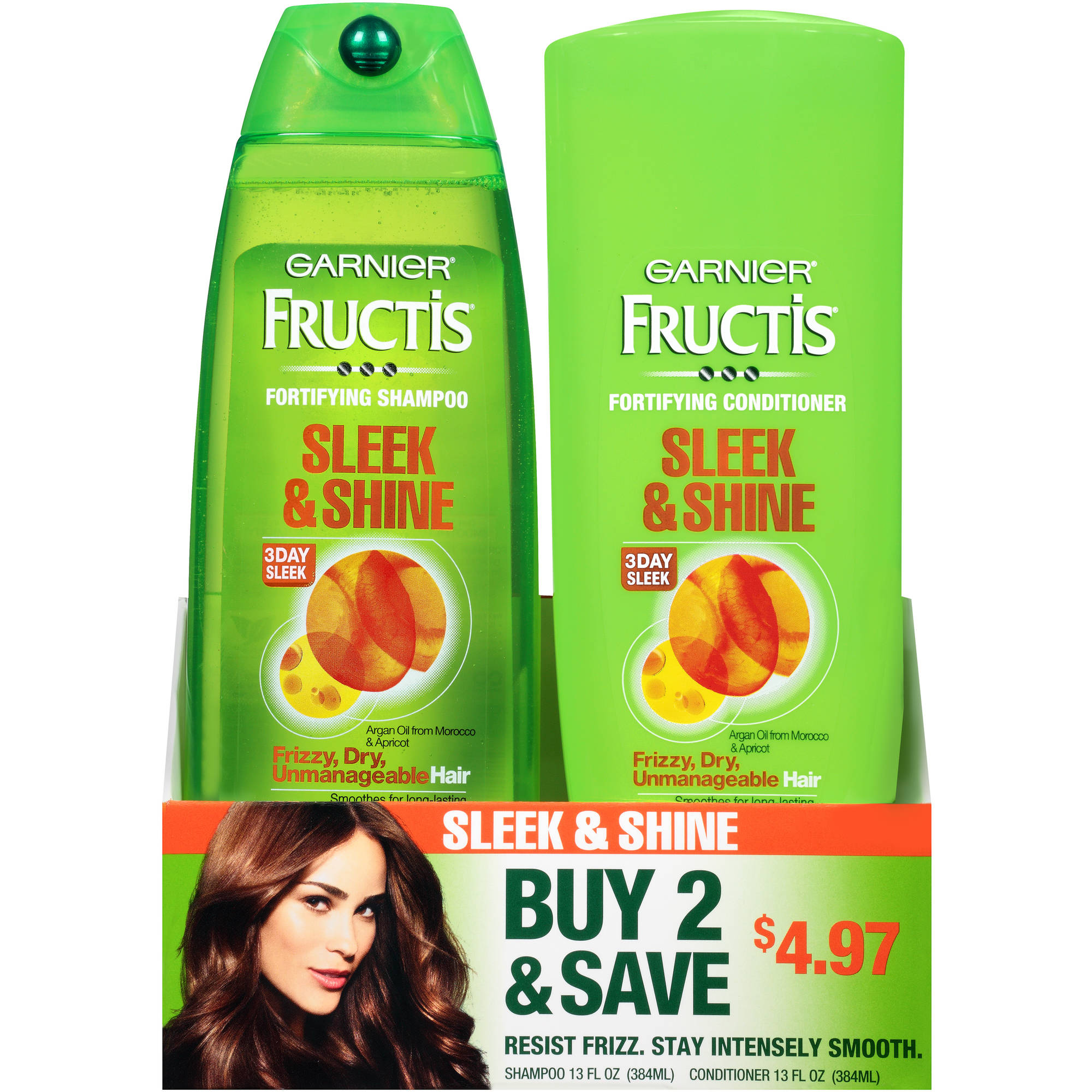 Garnier Fructis Sleek & Shine Shampoo & Conditioner Twin Pack