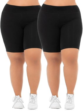 3c43718008ba9 Product Image Women's Plus Size Active 2-Pack Bike Shorts Bundle