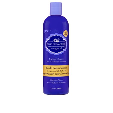 HASK Blue Chamomile & Argan Oil Blonde Care Shampoo,