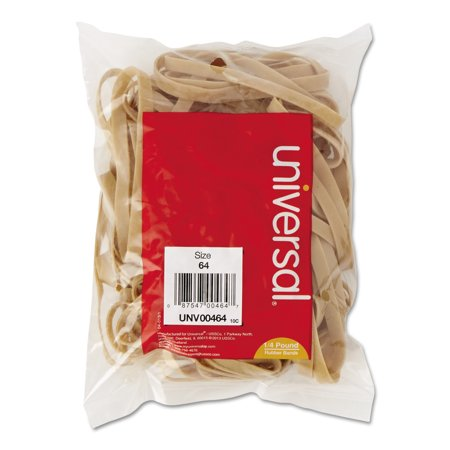 Universal Rubber Bands, Size 64, 3-1/2 x 1/4, 80 Bands/1/4lb - Omega Rubber Band