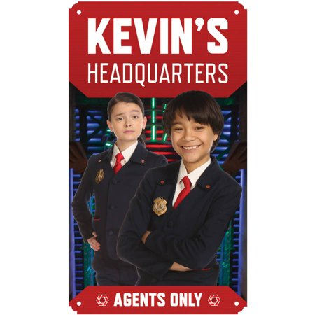 Personalized Olive - Personalized Odd Squad Headquarters Olive and Otto Tin Room Sign