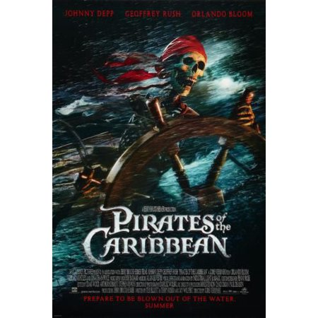 Pirates Of The Caribbean Curse Black Pearl Movie Poster 24inx36in Art](Halloween Black Light Posters)