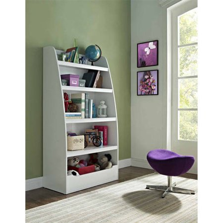 Ameriwood Home Mia Kids' 4 Shelf Bookcase, White (Baby Bookcase)