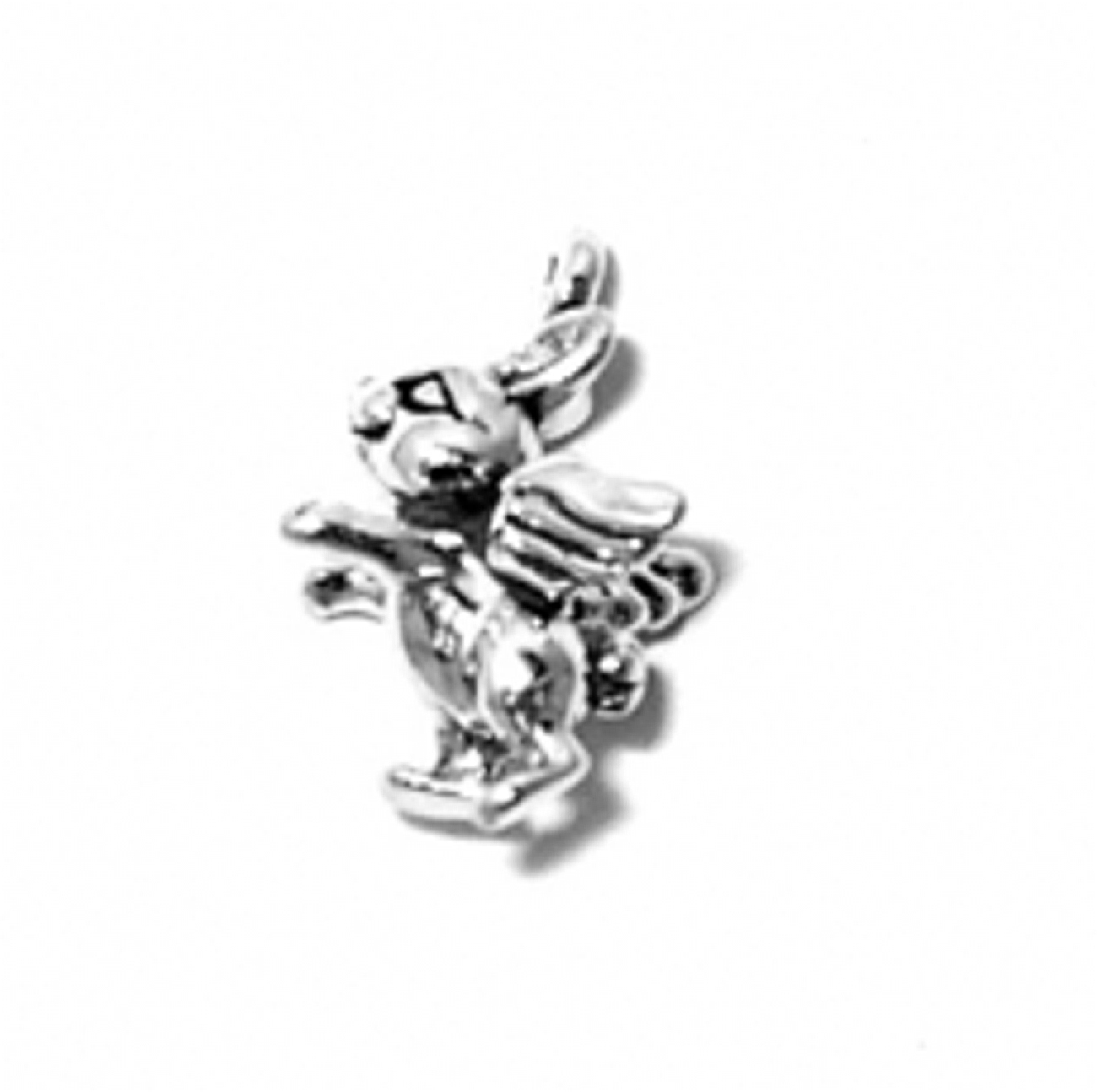 Sterling Silver 7 4.5mm Charm Bracelet With Attached 3D Decorative Snowboard Charm
