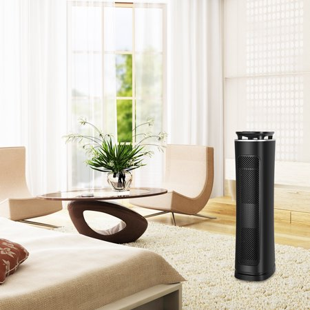 Air Cleaner for Allergies and Asthma,3 stages filtration True Hepa Filter Air Purifier with Mosquito Repellent,Tower Fan,UV Light,Capture Allergens and Timer Function,Mold,Dust,Smoke Removal
