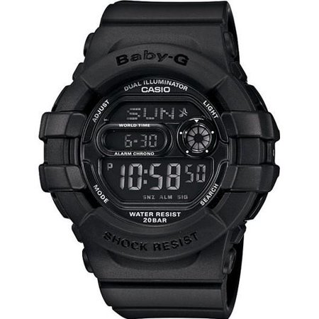 Baby-G BGD140-1A 3D Protection Wristwatch Black Rubber Wrist Watch