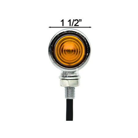 Motorcycle 2 pcs Chrome Amber Turn Signals Lights For Yamaha Roadliner Road Liner Midnight XV - image 2 de 6