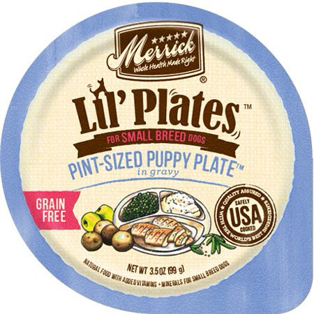 Merrick Lil' Plates Pint-Sized Puppy Plate in Gravy