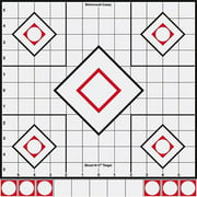 "Birchwood Casey 34219 Shoot-N-C Sight-In 12"" Self-Adhesive 5-Diamond Target 5 Pack White"
