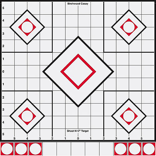 "Shoot•N•C® 12"" White/Black Sight-In Target - 5 Targets"