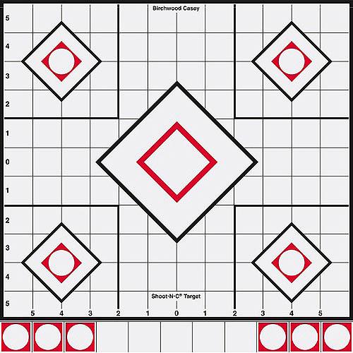 "Shoot•N•C® 12"" White/Black Sight-In Target - 5 Targets"