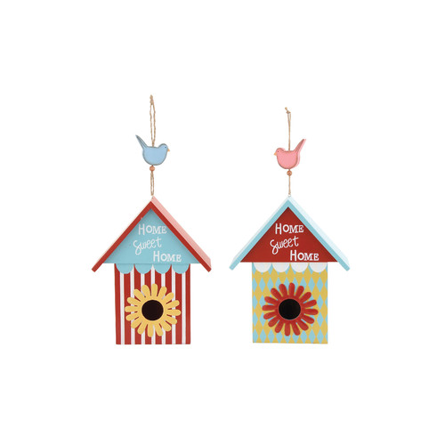 Woodland Imports 2 Piece 17 in x 9 in x 4 in Birdhouse Set by Benzara Inc