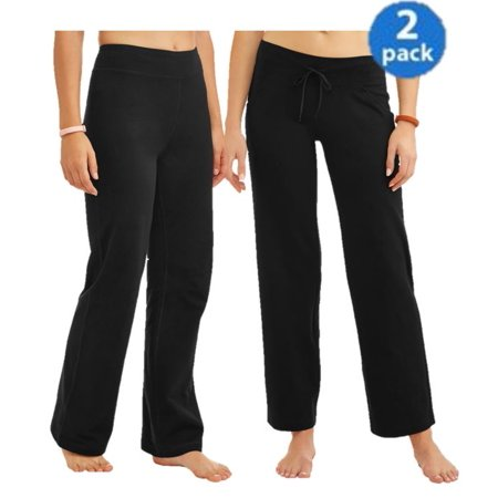 Athletic Works Relaxed Fit Pant and Bootcut Pants in Regular and Petite 2 Pack Bundle