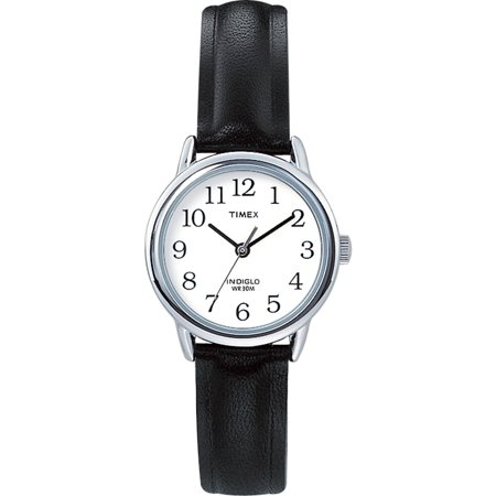 - Women's Easy Reader T20441 Black Leather Quartz Fashion Watch