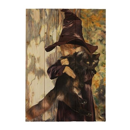 Hadley House Co 'Bewitched - Halloween' by Wesley Dallas Merritt Painting Print Plaque - Halloween Dallas
