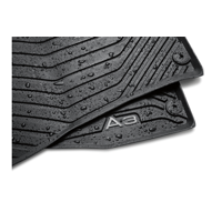 Genuine OE Audi All-Weather Floor Mats (Rear) - Black 8V5-061-512-041