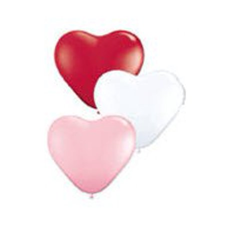 Qualatex Heart (Qualatex 15 Heart Balloons, Sweetheart Assortment - Pack of 50)