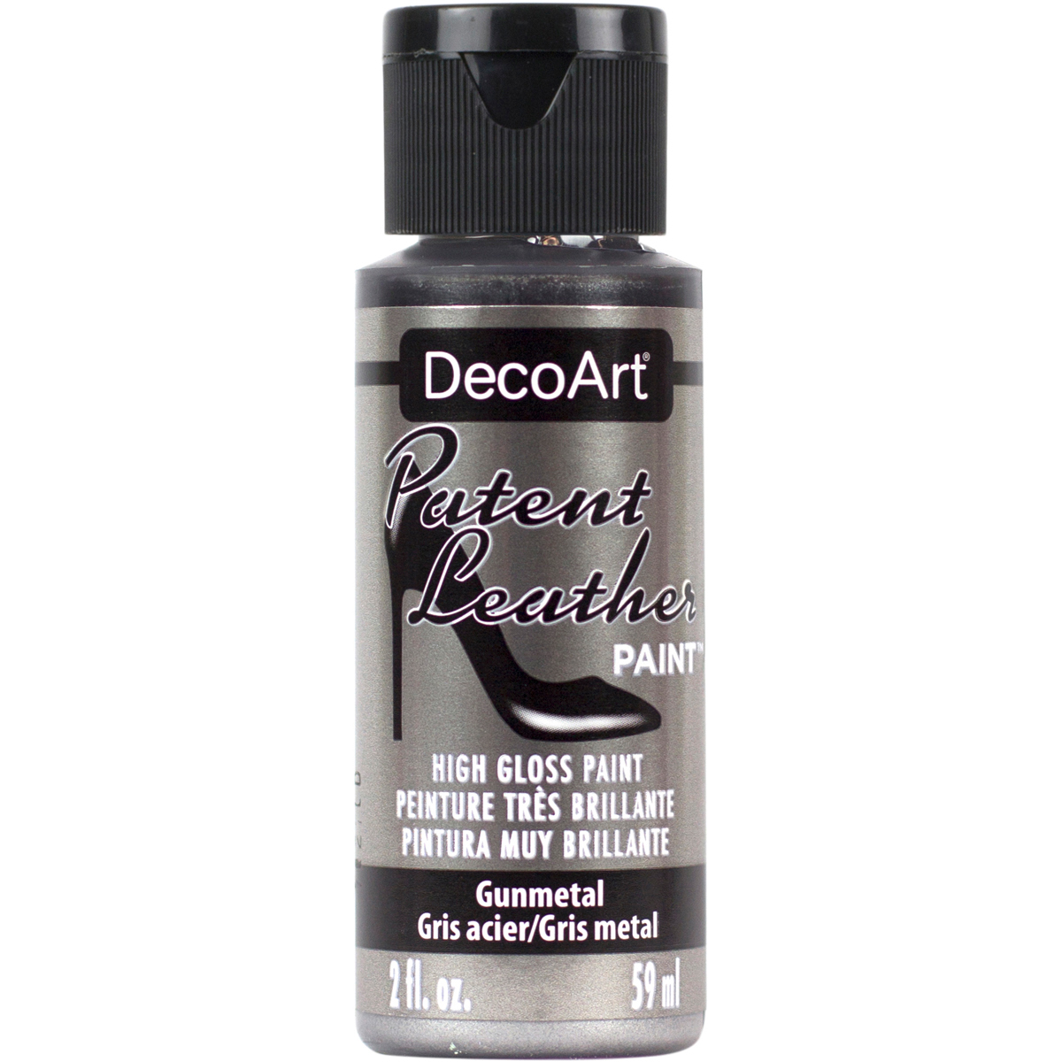 Patent Leather Paint 2oz-Gunmetal