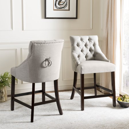 Outstanding Safavieh Eleni 26 In H Tufted Wing Back Counter Stool With Ring Set Of 2 Alphanode Cool Chair Designs And Ideas Alphanodeonline