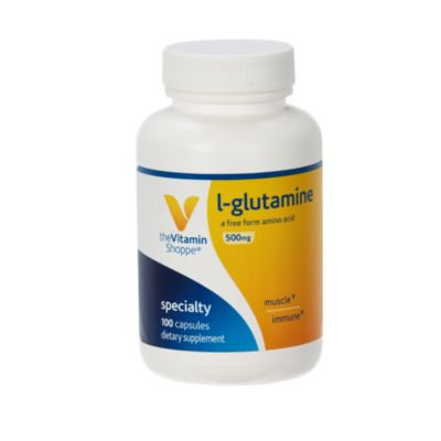 The Vitamin Shoppe LGlutamine 500MG, A Free Form Amino Acid, Supports Muscle Recovery  Immune Health (100