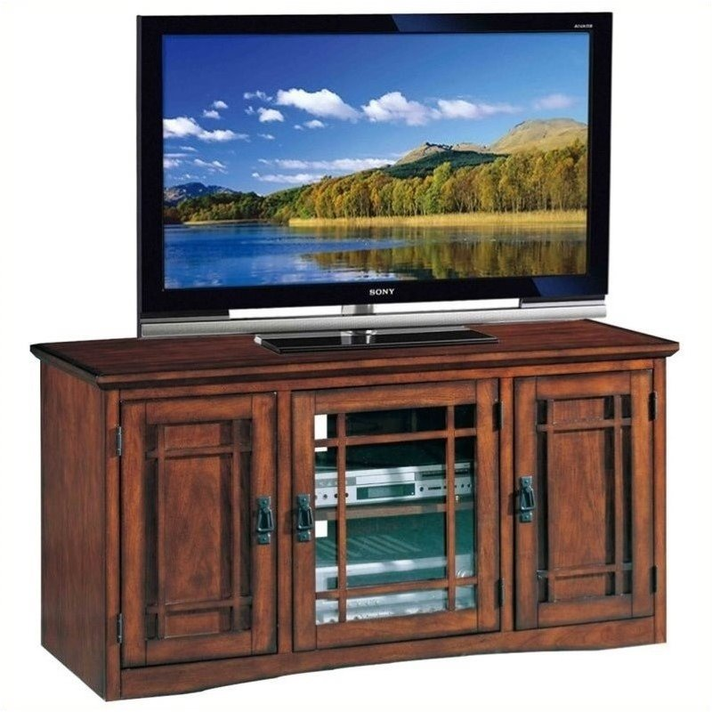 "Bowery Hill 50"" TV Stand with Storage in Mission Oak"