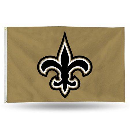 Rico Industries NFL 3' x 5' Banner Flag, New Orleans Saints (New Orleans Saints Garden Gnome)