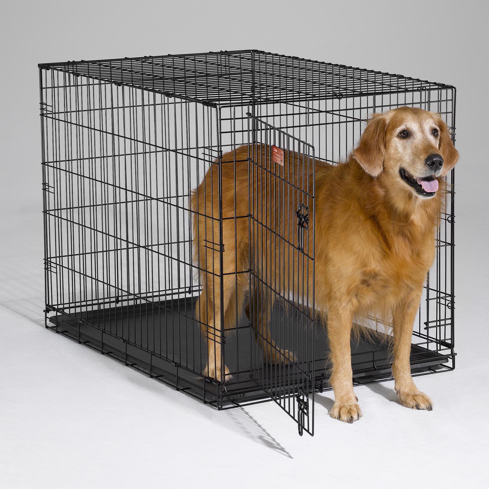 MidWest ICrate Folding Single Door Dog Crate   Walmart.com