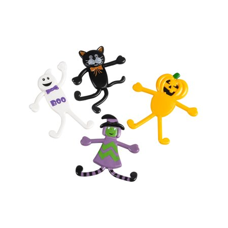 48 Classic Halloween Characters Bendable Bendy Toy Figures Decoration