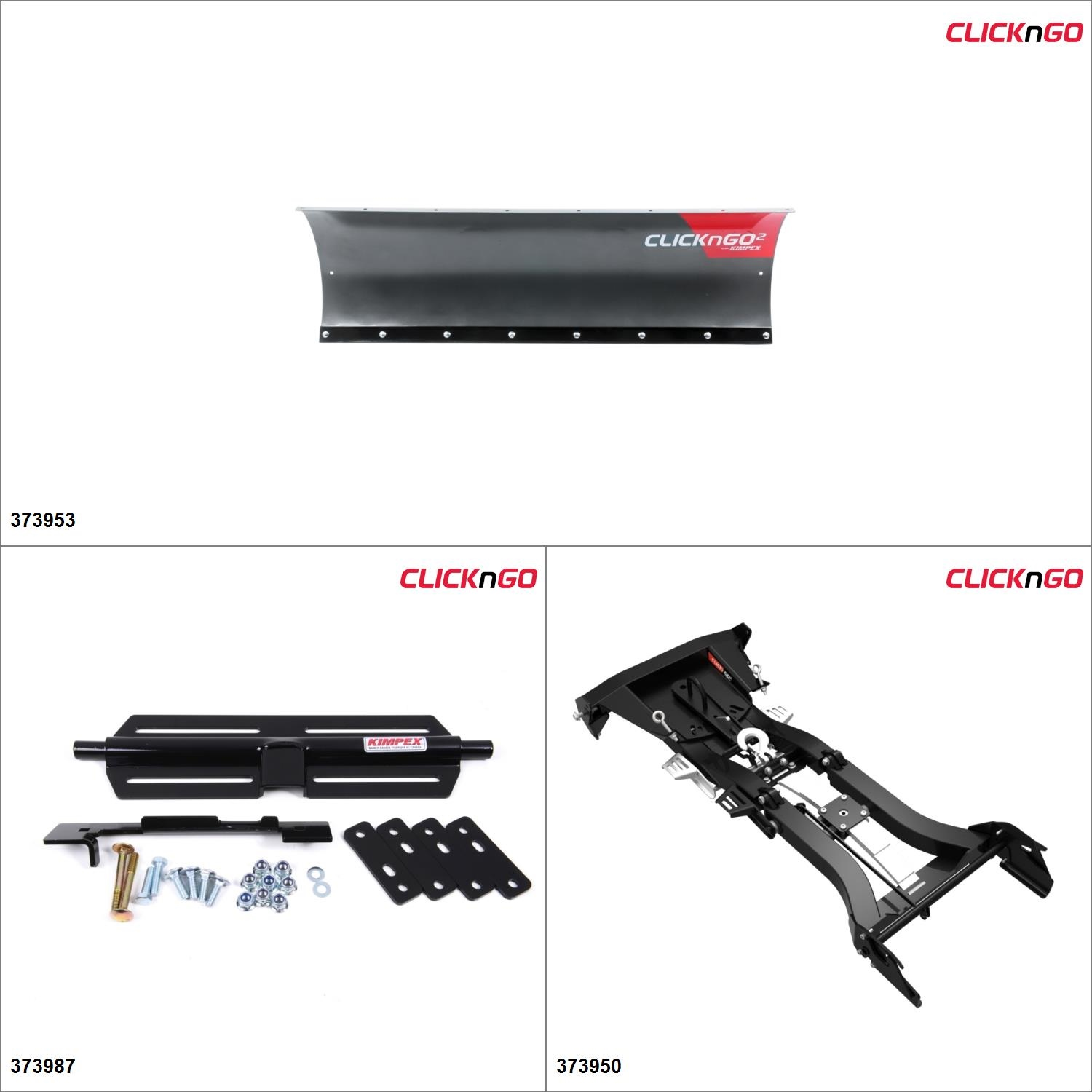 ClickNGo GEN 2 ATV Plow kit 60'', Polaris Sportsman 500 1996-05, 07-13 Black   Titanium... by ATV Snowplows
