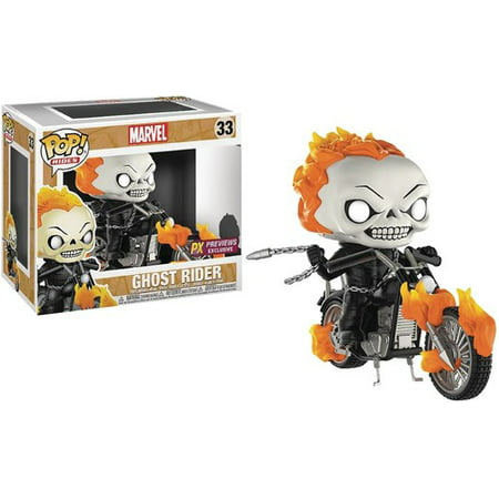 Pop! Rides Marvel Classic Ghost Rider W/Bike PX Vinyl Fig (O/A) - Ghost Prop