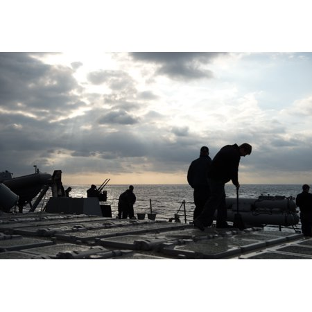 Laminated Poster Sailors Aboard The Arleigh Burke Class Guided Missile Destroyer Uss Donald Cook  Ddg 75  Participat Poster Print 24 X 36