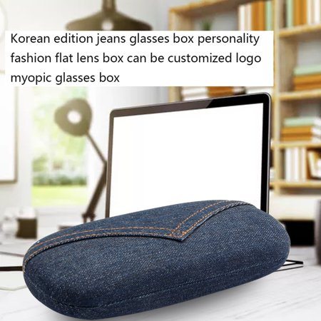 Jeans Cloth Scratchproof Eyeglasses Box Hard Eyeglass Case Protective Box - image 2 of 7