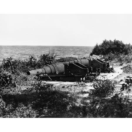 Civil War Cannons Nbattery Gun Photographed By Mathew Brady Rolled Canvas Art -  (24 x 36)