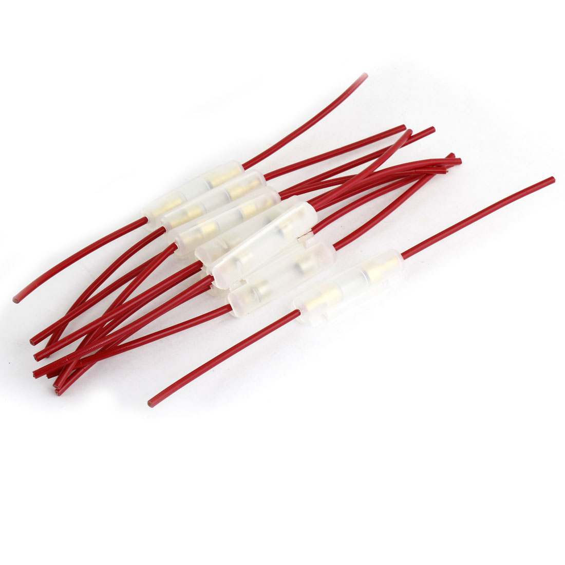 Replacement Red In-line Screw Type Car Motorcycle Lead Wire Fuse Holder 10PCS