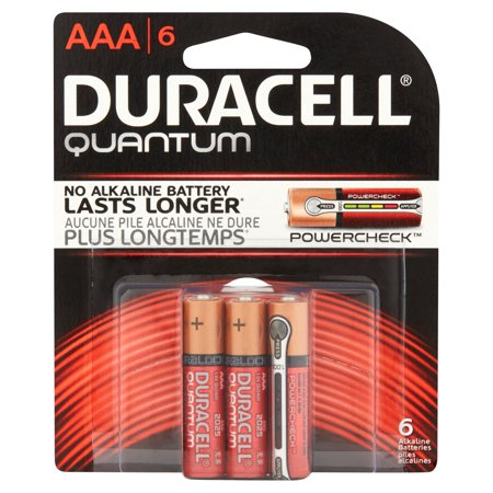 Duracell 1.5V Quantum Alkaline AAA Batteries with PowerCheck 6 Pack