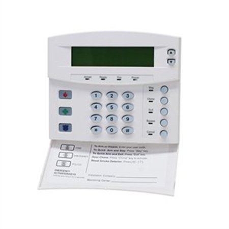 GE 192-ZONE LCD KEYPAD W/SWINGDWN REMOVABLE DOOR,WHITE -