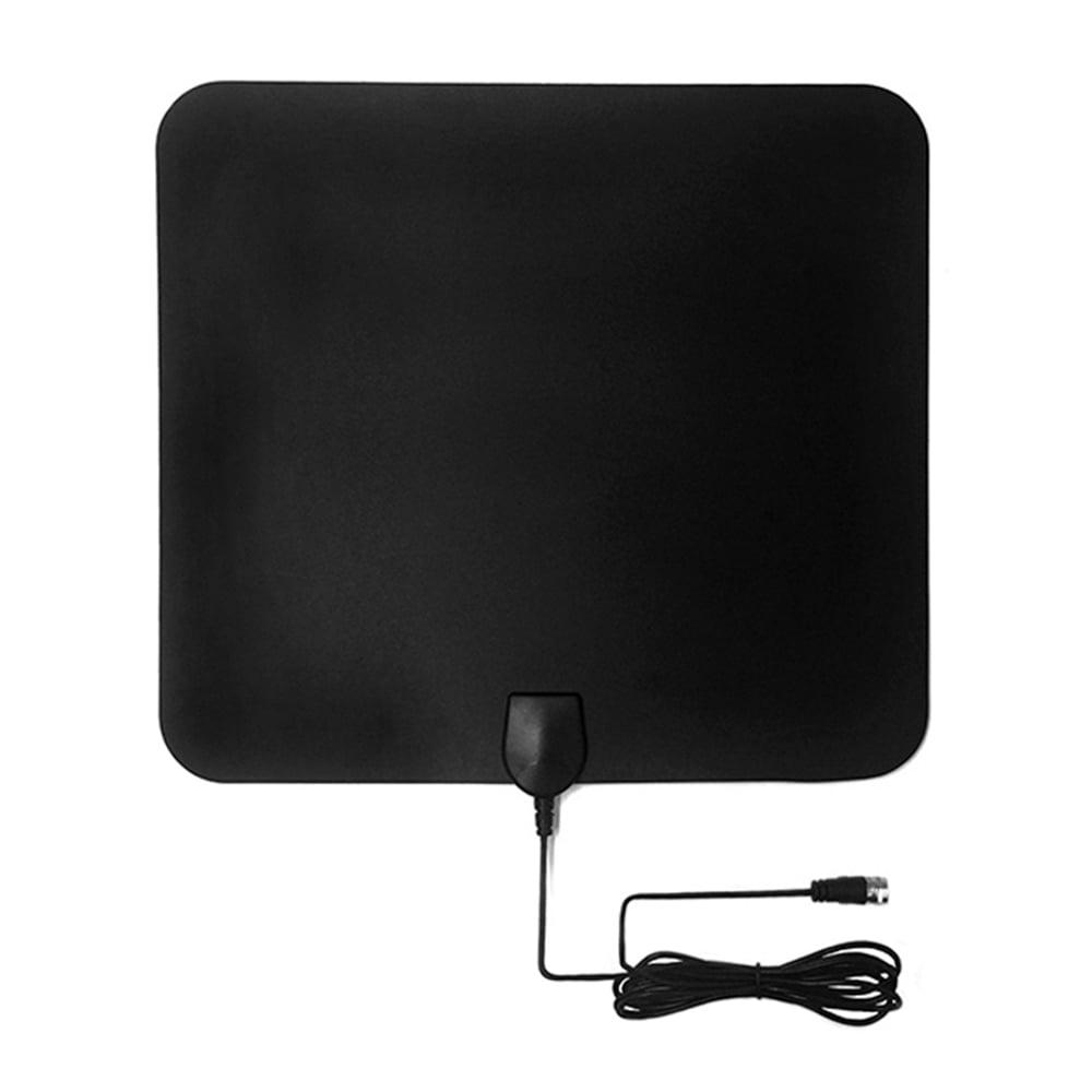 US Indoor HDTV Amplified HD TV Digital Antenna 300 Mile 1080P 4K 13FT Coax Black