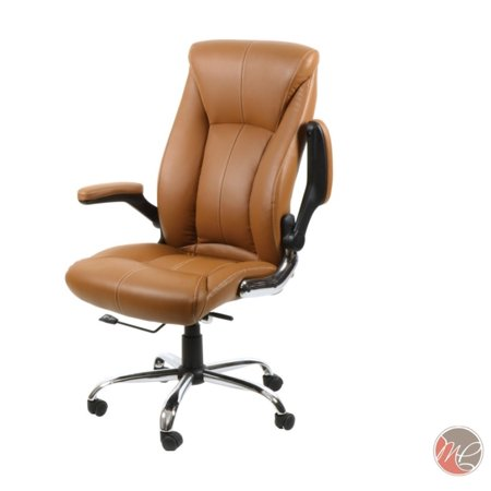 MADISON & PARK Office Desk Chair Leather Computer Executive Conference Task Study Chair Adjustable Swivel Chair with Adjustable Arms - Madison Desk Chair