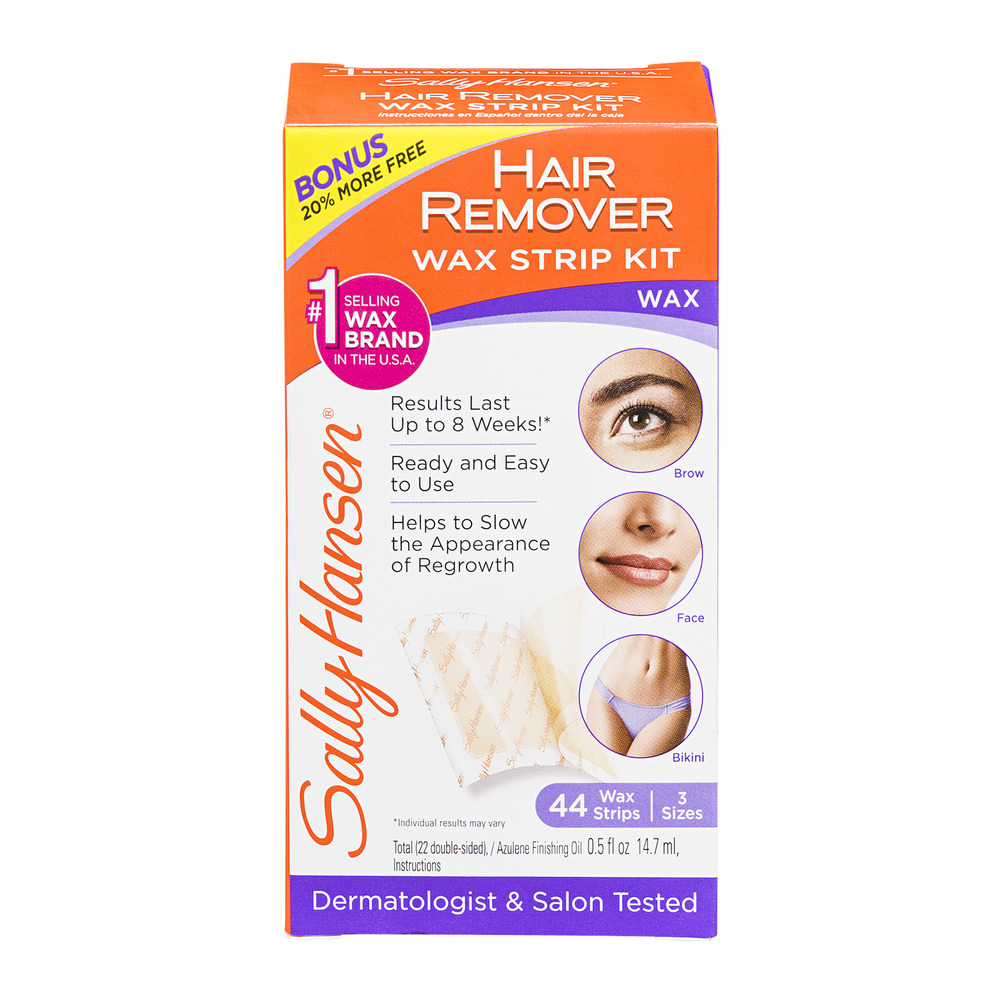 Sally Hansen Hair Remover Wax Strip Kit - 44 CT