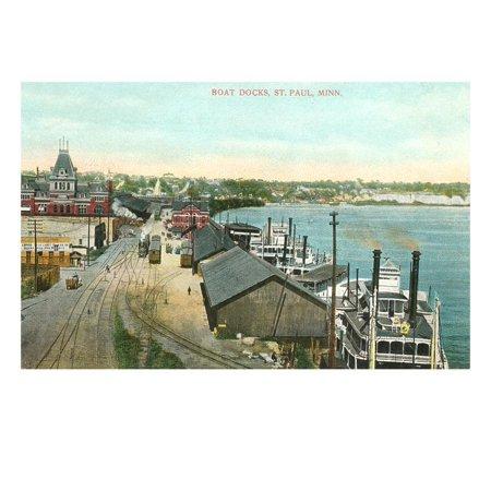 Boat Docks, St. Paul, Minnesota Print Wall Art ()