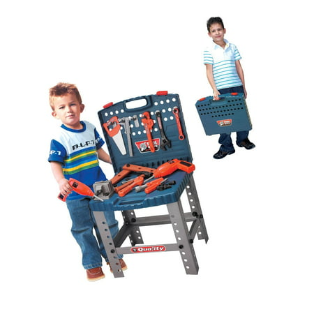 New Toy Tool Workbench for Kids Pretend Play - Construction Workshop