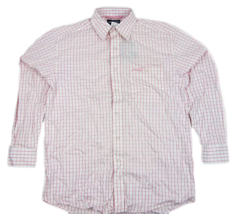 Wrangler Mens Tough Enough to Wear Pink Shirt Pink MTP224M Size Medium