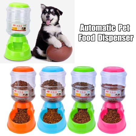 3.5L Large Automatic Pet Food Dispenser Dog Cat Feeder Bowl Device Dish & Dog Cat Cool Mat Self Cooling Gel Pad Dog Bed Mattress