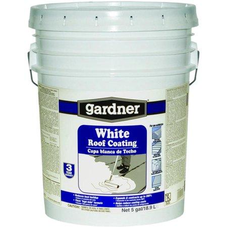 Gardner Gibson White Kote Elastomeric Roof Coating 5 Gal