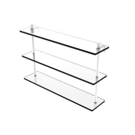78 Triple Tier (Foxtrot Collection 22 Inch Triple Tiered Glass Shelf )