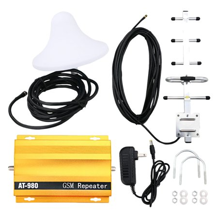 AT980 GSM 2G Repeater 900MHz Mobile Phone Signal Repeater Booster Cell Phone Signal Amplifier (US Plug)